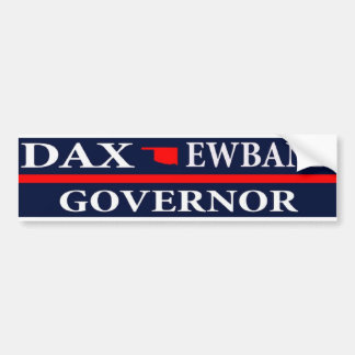 Dax Ewbank para el gobernador de Oklahoma Etiqueta De Parachoque