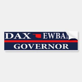 Dax Ewbank para el gobernador de Oklahoma Pegatina Para Auto