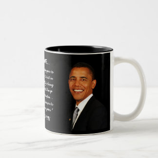 Day 2009 de Barack Obama de presidente Taza De Café De Dos Colores