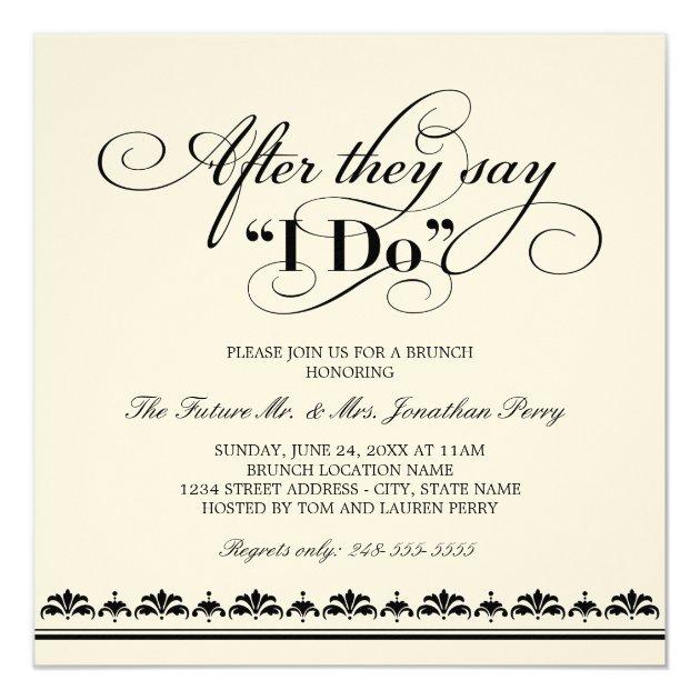 Day After Wedding Brunch Invitation Wedding Vows Zazzle