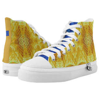"""Day and Night"" Batik: Choose Size Printed Shoes"