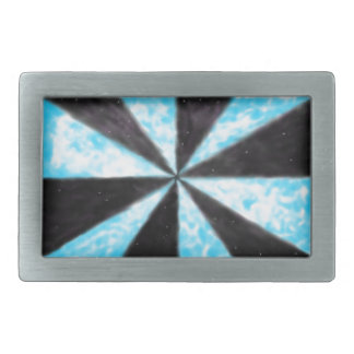 Day and Night Rectangular Belt Buckles