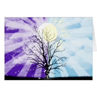Day and Night Greeting Card