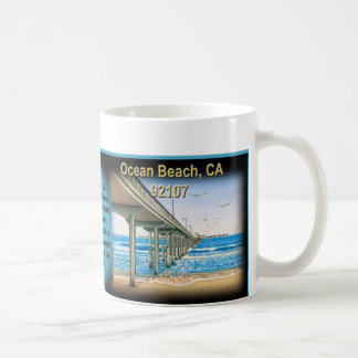 Day and Night Ocean Beach Pier Coffee Mug