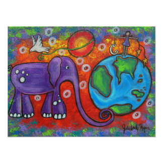 Day and Night On Planet Earth Print