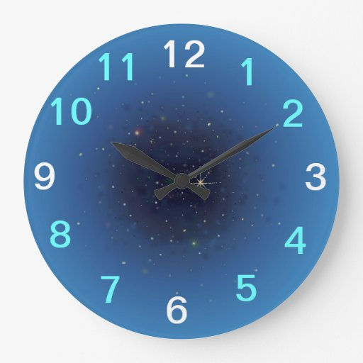 day and night sky clock zazzle. Black Bedroom Furniture Sets. Home Design Ideas