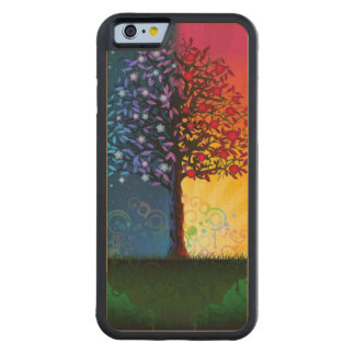 Day And Night Tree Carved Maple iPhone 6 Bumper Case