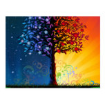Day And Night Tree Postcard