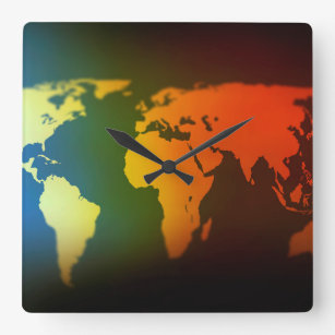 Day night wall clocks zazzle day and night world map clock gumiabroncs Image collections