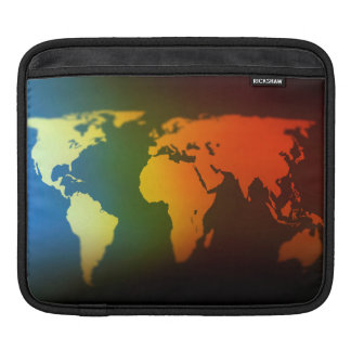 Day and night world map ipad sleeve