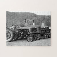Day at The Antique Tractor Show Family Fun Time Jigsaw Puzzle