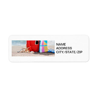 """""""DAY AT THE BEACH"""" ADDRESS LABELS"""