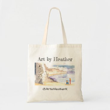 """Day at the Beach"" by Art by Heather tote"
