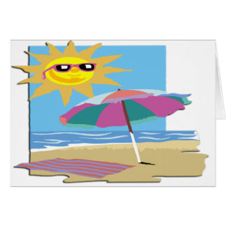 Day at the Beach Card