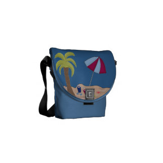 Day at the Beach Courier Bag