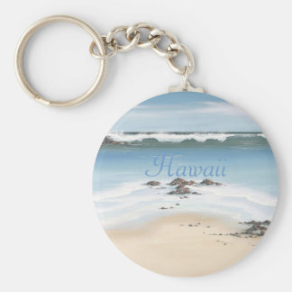 day at the beach-Hawaii Keychain