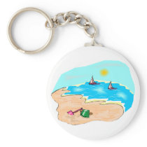 Day at the Beach Keychain