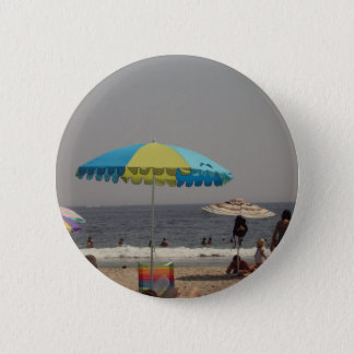 Day At The Beach Pinback Button
