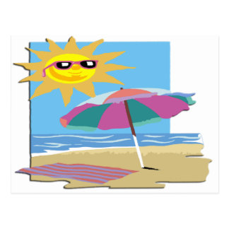 Day at the Beach Postcard