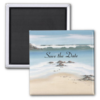 day at the beach Save the Date Magnet