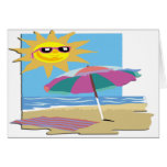 Day at the Beach Stationery Note Card