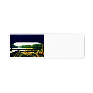 Day at the Lake Custom Return Address Labels