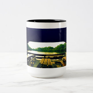Day at the Lake Two-Tone Coffee Mug
