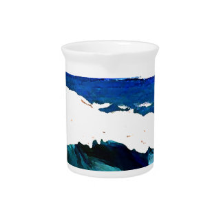 Day At The Ocean 2 - Ocean Waves CricketDiane Beverage Pitcher