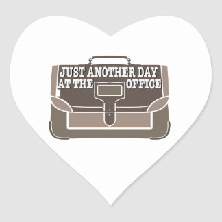 Day at the Office Heart Sticker
