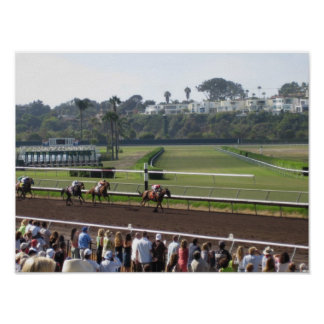 """""""Day at the Races"""" Del Mar Print"""