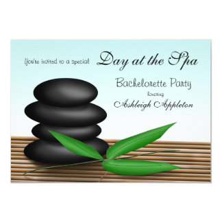 """""""Day at the Spa"""" Bachelorette Party Invitations"""