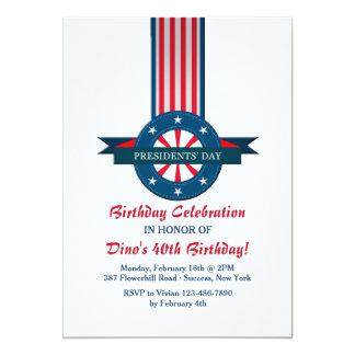 "Day Banner Invitation de presidente Invitación 5"" X 7"""