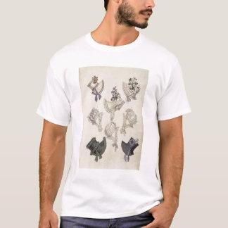Day bonnets, fashion plate from Ackermann's Reposi T-Shirt
