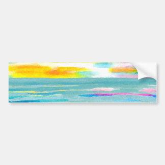 Day Breezes Sunrise Beach Surf Ocean Sunset Bumper Stickers