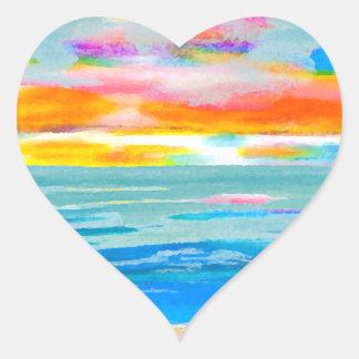 Day Breezes Sunrise Beach Surf Ocean Sunset Sticker
