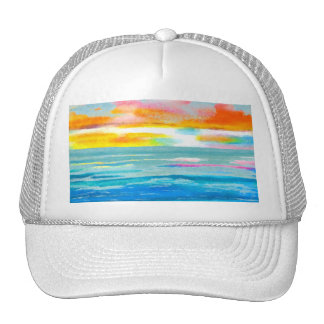 Day Breezes Sunrise Beach Surf Ocean Sunset Trucker Hat