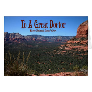 Day Card del doctor nacional Tarjeton