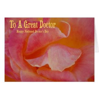 Day Card del doctor nacional Felicitación
