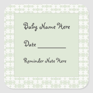 Day Care Baby Tags Square Sticker