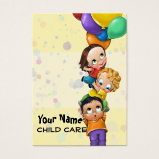Day Care. Child Care. Babysitting. Promo card