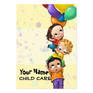 Day Care. Child Care. Babysitting. Promo card Large Business Card