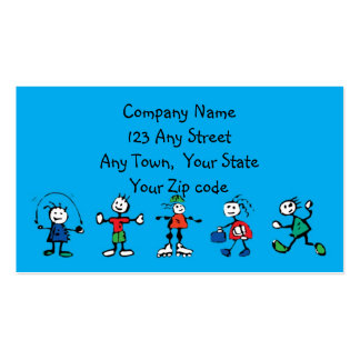 day care,child care, teacher or  babysitting Double-Sided standard business cards (Pack of 100)