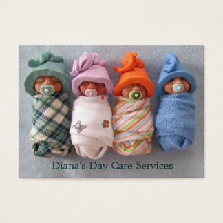 Day Care Provider: Photo of Clay Babies: Original Business Card