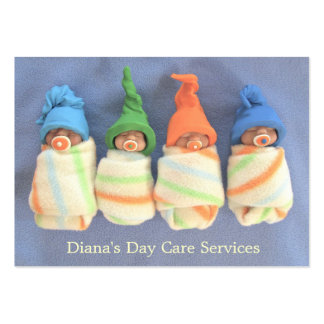 Day Care Provider: Photo of Clay Babies: Original Large Business Card