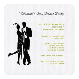 Day Dance Valentine's Day Invitation
