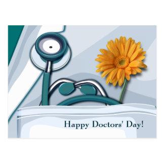 Day de los doctores felices. Postales adaptables
