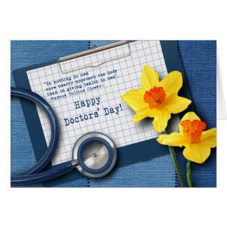 Day de los doctores felices. Tarjetas de felicitac