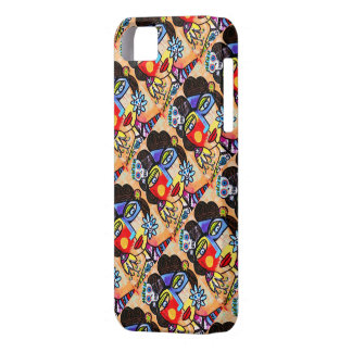 Day Dead- Mexican Woman Coral Sugar Skull - iPhone iPhone 5 Covers