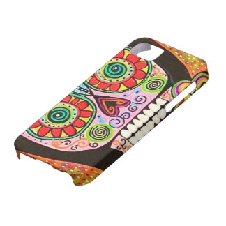 Day Dead - Mexican Woman Pink Sugar Skull - iPhone iPhone 5 Case