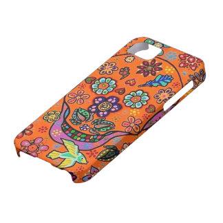 Day Dead - Orange Sunset Bird Sugar Skulls iPhone iPhone 5/5S Covers